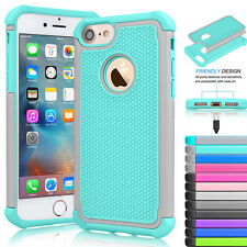 Armor Shockproof Hybrid Rugged Rubber Hard Case Cover For Apple iPhone 7/ 7 Plus