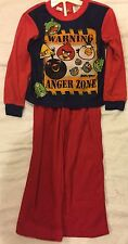 ANGRY BIRDS PJS ANGER ZONE PYJAMAS  SIZE 4/5 AND 6/7