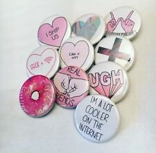 Tumblr Inspired Pinback Buttons