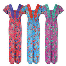 NEW LADIES 100% COTTON FLORAL NIGHTSHIRT WOMENS LONG NIGHTIE LOUNGER 8-16