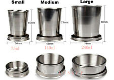 Stainless Steel Folding Cup Telescopic Collapsible Outdoor Travel Camping Tool A