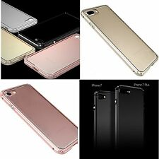 Luxes Aluminum Metal Bumper Frame w/Clear Back Cover Case For iPhone 7 / 7 Plus