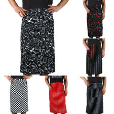New Arrival  Stripe Half Apron With Pocket Chef Waiter Kitchen Cook Fashion JB