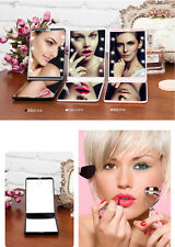 Travel Folding Double-Sided LED Lighted Cosmetic Vanity Magnifying Makeup Mirror