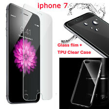 Clear Crystal TPU UltraThin Case Cover+Temper Glass Flim For Apple iPhone7,7Plus