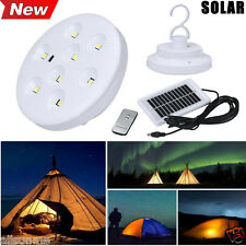 Super Bright LED Solar Outdoor Camping Tent Light Lantern Hiking Fishing Lamp UK