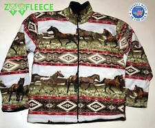 POLAR FLEECE JACKET HORSES EQUESTRIAN RIDING WARM SOFT THERMAL WATER RESISTANT