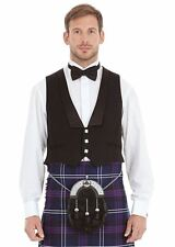 Mens New 3 Button Prince Charlie Waistcoat Various Sizes 100% Cotton & Wool