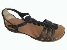 New Womens Supersoft Diana Ferrari Leather Sandal/Shoe Black Sz 6/7/8/9/10/11/12