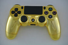 Sony Playstation Dualshock PS4 Wireless Controller Custom Chrome Gold