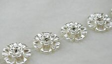 24mm Flower Ivory Pearl And Rhinestone Chain Trims Sewing Costume Applique LZ99