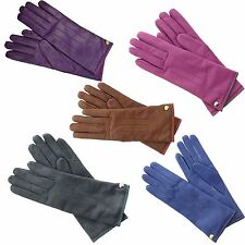 Coach Women's Cashmere Lined Soft Leather Winter Gloves Sizes 6.5-7.5 MFSRP $108