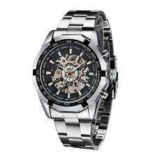 WINNER Mens Skeleton Automatic Mechanical Stainless Steel Band Analog Watch Q9U1