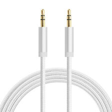 1M Braided 3.5mm Male To Male Stereo Audio AUX Cable Cord Phone PC iPod CAR Lot