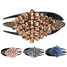 Rhinestones Rose Glitter Hair Claws Crystal Barrette Gripper Hair Decoration