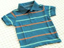 The Childrens Place Boys Polo Shirt in Blue Stripes -18 and 24 months