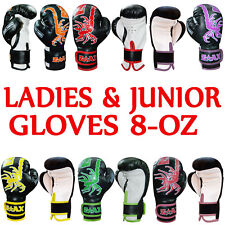 Junior & Ladies Boxing Gloves Punch Bag Sparring Gloves Mitts Training  8OZ