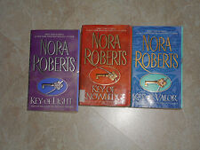 COMPLETE 3 PC SET OF KEY TRILOGY BY  NORA ROBERTS KEY OF LIGHT KNOWLEDGE & VALOR