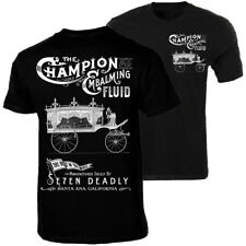 Men's Se7en Deadly Embalming Fluid T-Shirt Retro Vintage Hearse Funeral Coach