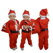 Toddler Boys Christmas Santa Claus Costume Dress with Hat Outfit Xtmas Set