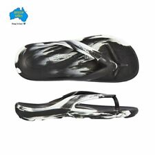 Aussie Soles Starfish Thongs- Black & White