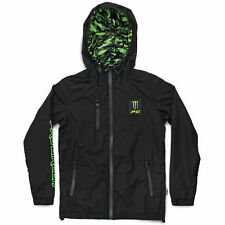 NEW Pro Circuit MX Monster Energy Vegas Black Green Camo Mens Windbreaker Jacket