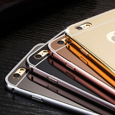 Luxury Aluminum Ultra-thin Mirror Metal Back Case Cover for Apple iPhone 7 6 6S