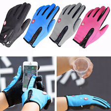 Mens Winter Cycling Full Finger Gloves Thermal Bike Team Windproof Gloves M L XL