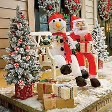 Stuffable Lighted Santa Claus or Snowman Decoration Outdoor Christmas Holiday