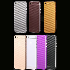 Full Body Carbon Fiber Decal Sticker Protector Wrap Case Cover For Apple iPhone