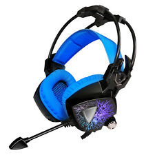 Sades Vibration USB PC Gaming Headset Surround Over Ear Headphones With Mic