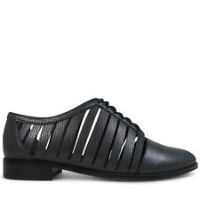Wittner Ladies Shoes Black Leather Flats