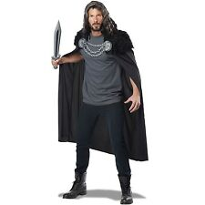 Mens Wolf Clan Warrior Cape Medieval Times Knight Costume Party Accessory