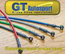 Clear Stainless steel brake lines hoses 02-03 Mazda Protege 5