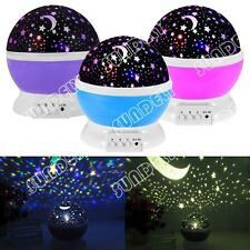 Sundely  Rotation Starry Star Sky Romantic Moon Room Night Light Lamp Projector