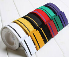 Unisex Casual Multi Color Canvas Webbing Belt Wide Belts Army Military Style JS
