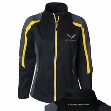 CORVETTE C7 HERS COLORBLOCK JACKETS BLACK/YELLOW TRIM  BUDS CHEVROLET ST MARYS