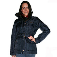 Ladies Jess Light Quilted Belted Casual Jacket Casual Coat Navy Black & Khaki
