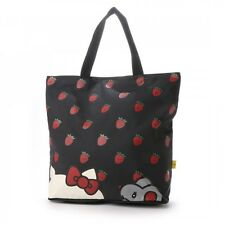 Hello Kitty × Freak Pocketable Tote Bag Strawberry Shoulder Purse Japan T5535
