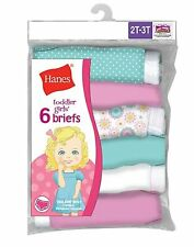 12 Hanes TAGLESS® Toddler Girls' Cotton Briefs TP30AS