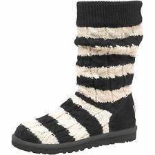BNIB GENUINE Ugg Classic Tall Stripe Cable Knit Girls Boots,UK 3.5 & 4.5 RRP£145