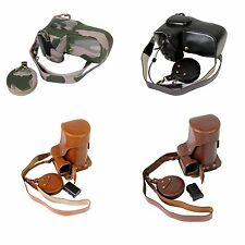 Bottom Opening PU Leather Full Camera Case For Canon EOS 1000D 18 - 55mm Lens