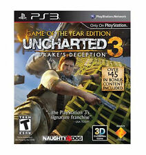 UNCHARTED 3 DRAKE'S DECEPTION GAME OF THE YEAR PS3 PlayStation 3 GAME ONLY (nap)