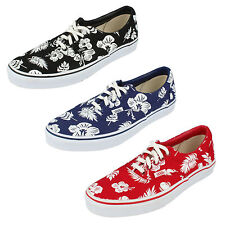 """UNISEX VANS """"OFF THE WALL"""" LACE UP CANVAS SHOE IN RED, BLUE & BLACK STYLE - ERA"""