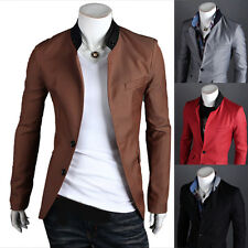 Mens Stylish Slim Fit Two Button Business Casual Blazer Jacket Suit Coat Tops