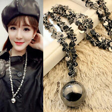 Fashion Women Crystal Pendant Sweater Chain Long Pendant Necklace New Jewelry JB