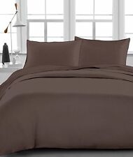 Extra Deep Pocket 1200 TC Egyptian Cotton 4 Piece Sheet Set Chocolate Solid