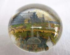 ANTIQUE VICTORIAN SOUVENIR GLASS PAPERWEIGHT - CRYSTAL PALACE - SYDENHAM c1870