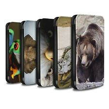 STUFF4 PU Leather Case/Cover/Wallet for Samsung Galaxy J3/Wildlife Animals