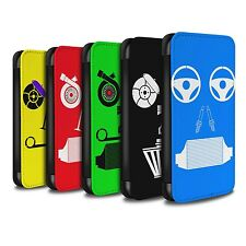 STUFF4 PU Leather Case/Cover/Wallet for Samsung Galaxy J3/Car Part Faces